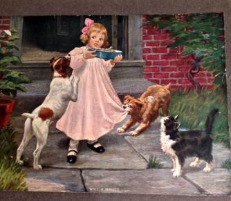 Print ~ Little Girl with Pup
